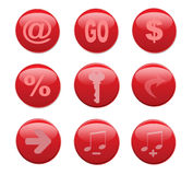 Web red buttons Royalty Free Stock Image