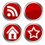 Web red buttons Stock Images