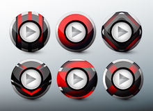 Web red buttons Stock Photo