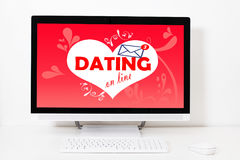 Web of relationships on the screen. Of your desktop stock images
