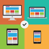Web responsiva design2 Foto de Stock