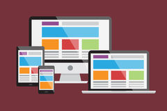 Web responsiva design1 Foto de Stock Royalty Free