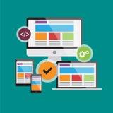 Web responsiva design6 Imagem de Stock Royalty Free