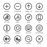 Web responsive icons Royalty Free Stock Photo