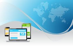 web responsive technology business illustration Royalty Free Stock Photography