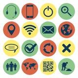 Web retro e iconos móviles Foto de archivo libre de regalías
