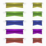 Web ribbons set. In five colors royalty free illustration