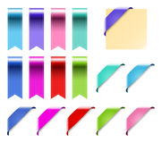Web Ribbons Set With Gradient, isolated on white Vector Illustration Stock Photo