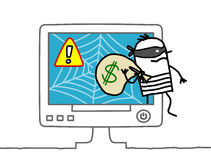 Web robber Royalty Free Stock Photography