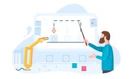 Web robotique d'illustration de cobcept d'automatisation des processus, copie