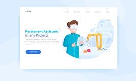 Web robotique de concept de page d'atterrissage d'automatisation des processus