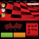 Web rojo que compite con de la fórmula Imagenes de archivo