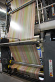Web (roll) offset press Stock Photo