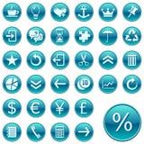 Web rond de 2 graphismes de boutons Images stock