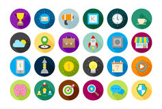 Web round vector icons set. Set of 24 Web round vector icons Stock Photos