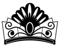 web s?mbolo del bosquejo de la diadema aislado en el fondo blanco Joyer?a del vector en estilo de moda Tiara Crown bosqueja eleme libre illustration