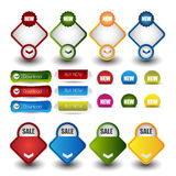 Web sale or discount banner for web with buttons Royalty Free Stock Images