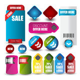 Web sale or discount banner for web Stock Images
