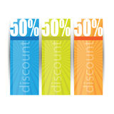 Web sale or discount banners Stock Photo