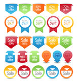 Web sale/discount label,tag or banner collection Royalty Free Stock Photo