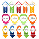 Web sale/discount label,tag or banner collection Royalty Free Stock Image