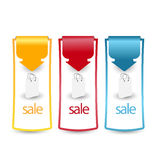 Web sale/discount label,tag or banner collection Stock Photos