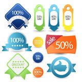 Web sale/discount label,tag or banner Stock Photo