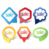 Web sale/discount label,tag or banner Royalty Free Stock Photos