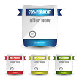 Web sale/discount/offer/deal badge,header,label,tag or banner Stock Photos
