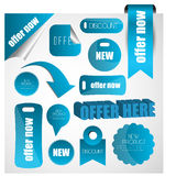 Web sale/discount/offer/deal badge,header,label,tag or banner Stock Photography