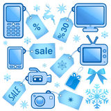 Web sale icons Royalty Free Stock Image