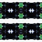 Web sans couture tribal moderne bleu de modèle d'Ikat Photos libres de droits