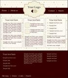 Web-Schablone lizenzfreie abbildung