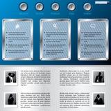 Web-Schablone mit Geschäftsmannprofilen Lizenzfreie Stockbilder