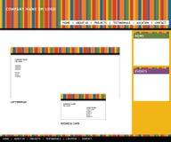 Web-Schablone und -briefpapier Lizenzfreies Stockfoto