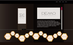 Web-schwarze Luxuxschablone Stockbild