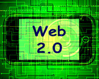 Web 2.0 On Screen Means Net Web Technology And Network Royalty Free Stock Photography