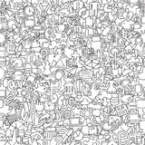 Web seamless pattern in black and white Royalty Free Stock Image