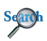 Web Search. Concept of web site search with magnifying glass Royalty Free Stock Image