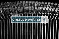 Web search bar glossary term - creative writing Stock Image