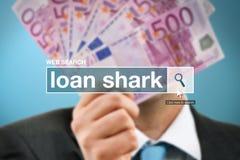 Web search bar glossary term - loan shark Royalty Free Stock Photography