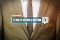 Web search bar glossary term - project management Stock Photography