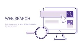 Web Search Browsing Business Concept Template Web Banner With Copy Space Stock Image