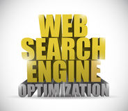 Web search engine optimization sign illustration Stock Photo