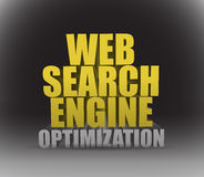 Web search engine optimization sign Stock Photo