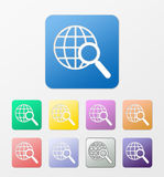 Web search icons set Royalty Free Stock Photography