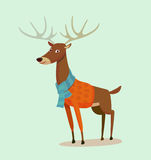 Web. Seasons greeting card with hipster animal. Flat design illustration in vector. Autumn animal concept. For print, postcard, web, social media and t-shirt Stock Photography
