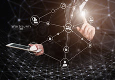 Web security concept. Mixed media Stock Image