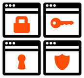 Web security icons Stock Images