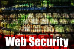 Web Security on a Technology Abstract Background. Online Web Security message on a tech abstract background stock illustration
